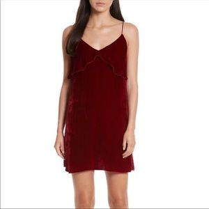 Alice and Olivia red velvet dress